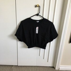 NWT Batwing cropped t shirt